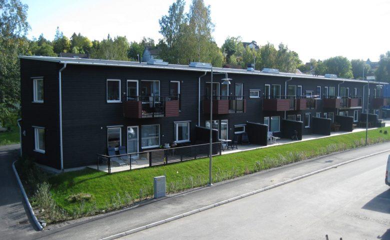 BRF Lupinen, Stockholm - Takstolar, vindskivor och ytterpanel i Göteborg.
